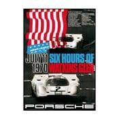Plakát Porsche Watkins Glen 1971, 70x50 cm