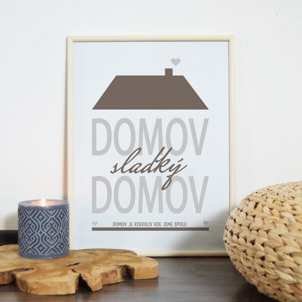 Obraz Domov, sladký domov, hnědý