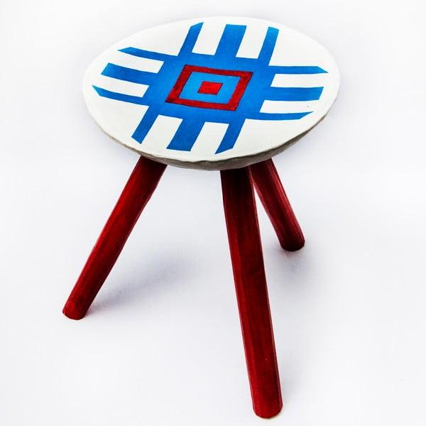 Ručně malovaná stolička Alma, 38 cm