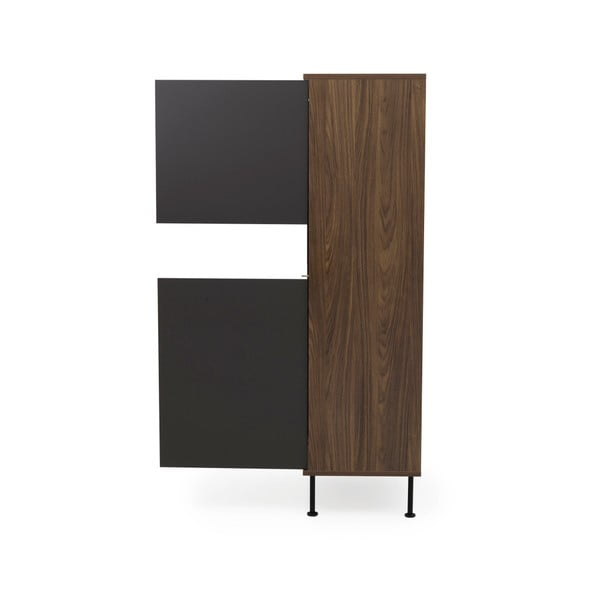 Antracitově šedá skříň Tenzo Daxx, 110x161cm