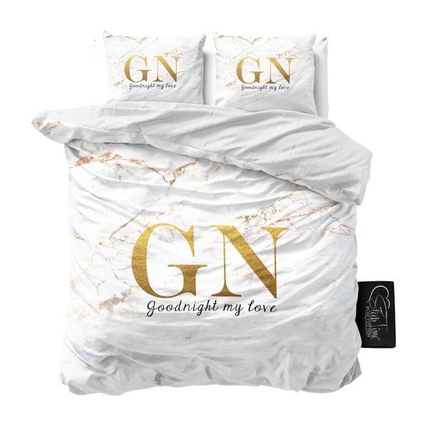 Bavlněné povlečení na dvoulůžko Sleeptime Good Night, 200 x 220 cm