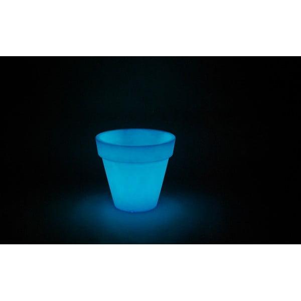 Fluorescenční květináč Pegasus, modrý