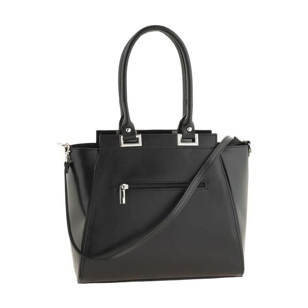 Kožená kabelka Strict Italia, černá