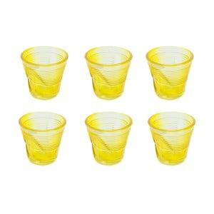 Sada 6 sklenic Kaleidos 115 ml, žlutá