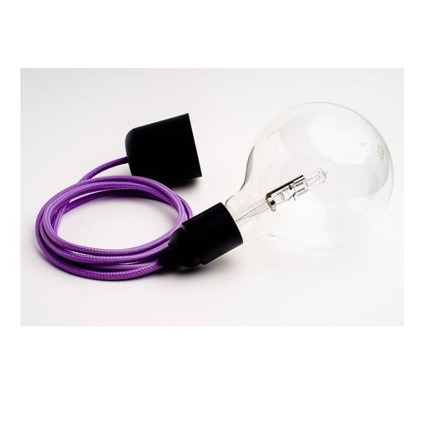 Barevný kabel Loft se žárovkou, levandule