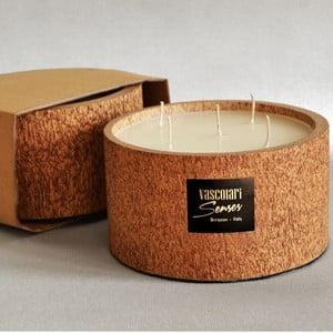 Palmová svíčka Palm Legno s vůní vanilky a pačuli, 120 hodin hoření