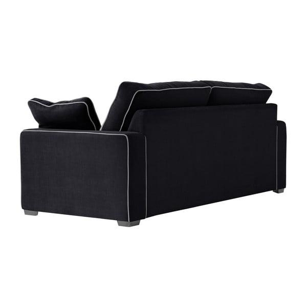 Třímístná pohovka Jalouse Maison Serena, černá
