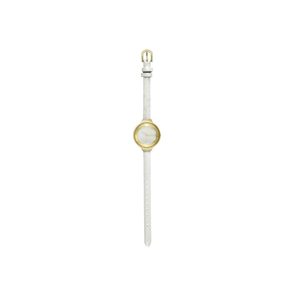 Dámské bílé hodinky s koženým řemínkem Rumbatime Orchard Gem