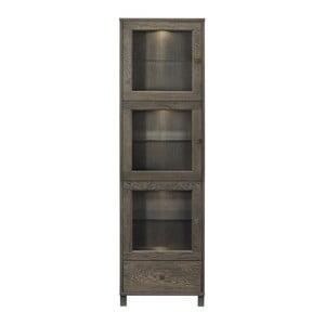 Vitrína Geranium Smoked, 54x182x42 cm