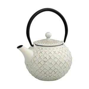 Bílá čajová konvice se sítkem Brandani Cast,800ml