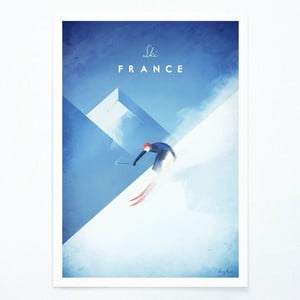 Plakát Travelposter Ski France, A3