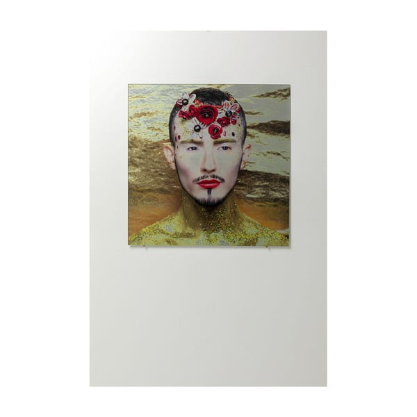 Skleněný obraz Kare Design Flower Man, 80x80cm
