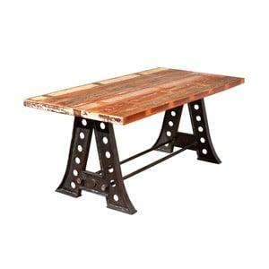 Masă dining din lemn masiv 13Casa Industry Vintage, lungime 180 cm