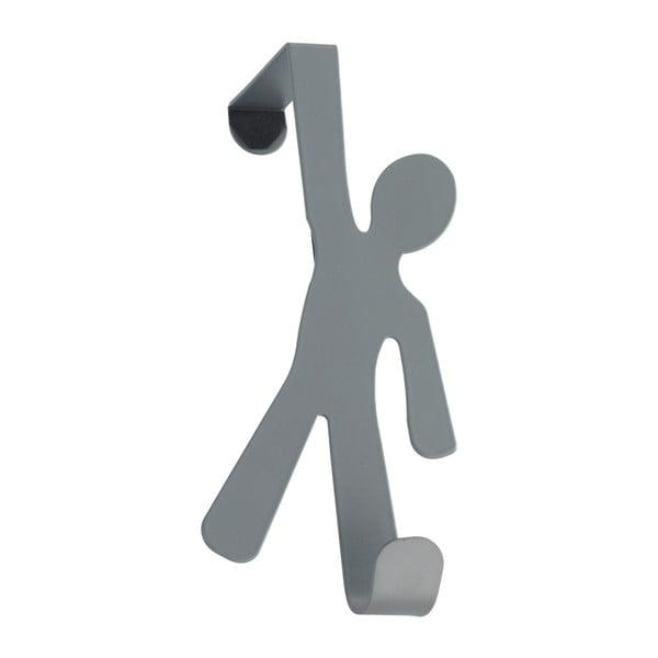 Šedý závěsný háček na dveře Wenko Hook Boy