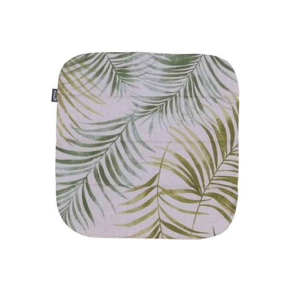 Zelený záhradný vankúš na sedenie Hartman Sophie Palmtree, 39 x 40 cm