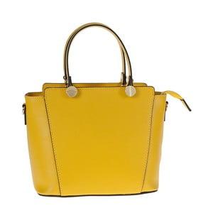 Žlutá kožená kabelka Tina Panicucci Tula