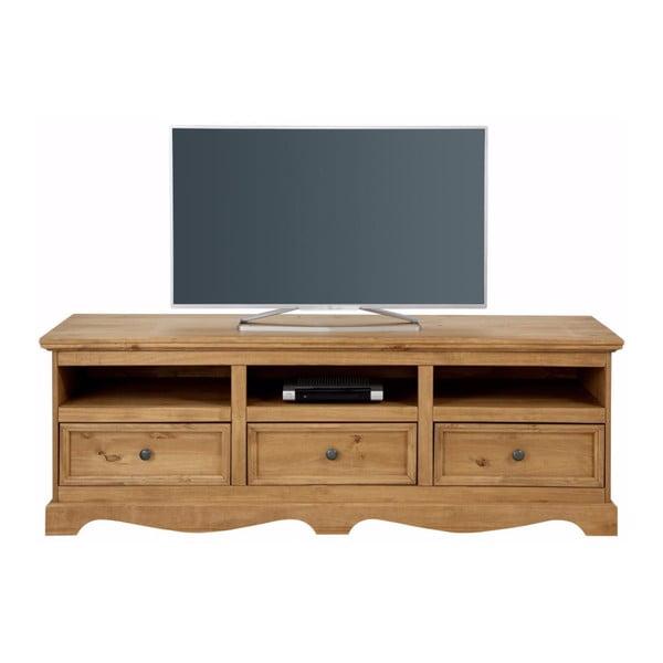 Comodă TV din lemn masiv de pin Støraa Monty, lățime 163 cm