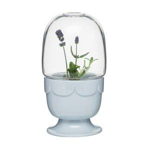 Květináč s poklopem  Sagaform Greenhouse, levandulově modrý