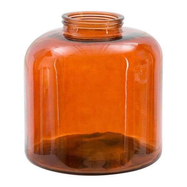 Oranžová váza z recyklovaného skla Mauro Ferretti Put, výška36cm