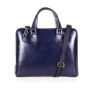 Tmavě modrá kožená taška přes rameno Italia in Progress Giulio