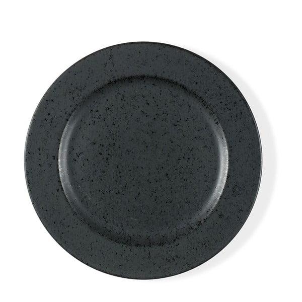 Basics Black fekete agyagkerámia desszertes tányér, ⌀ 22 cm - Bitz