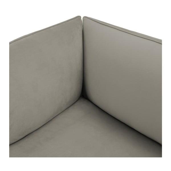 Šedý pravý rohový modul pohovky Vivonita Velvet Cube