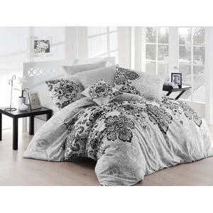 Lenjerie de pat cu cearșaf Luxury Grey, 200 x 220 cm, gri
