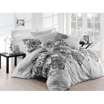 Lenjerie de pat cu cearșaf Luxury Grey, 200 x 220 cm, gri de la Nazenin Home