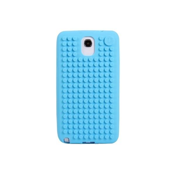 Pixelový obal na Samsung Note 3, blankytně modrá