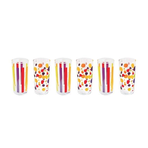 Sada 6 skleniček Colorissime