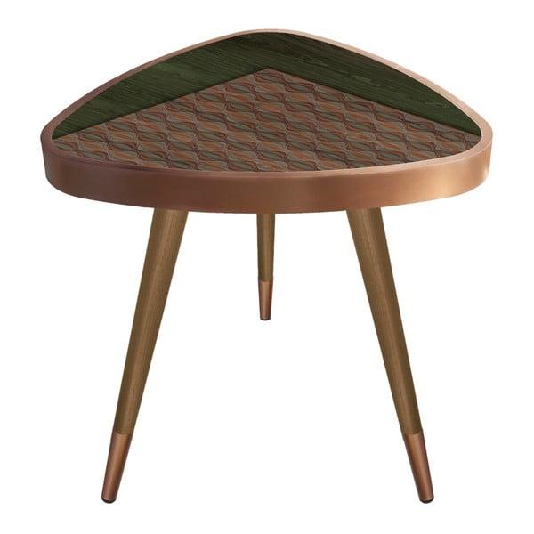 Príručný stolík Maresso Khaki Triangle, 45 × 45 cm