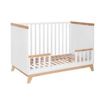 Pătuț copii KICOTI Fun, 60x120cm, alb imagine