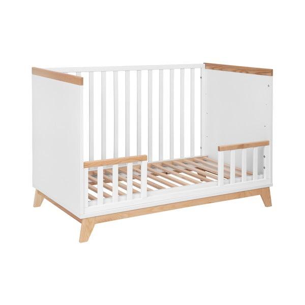 Pătuț copii KICOTI Fun, 60x120cm, alb