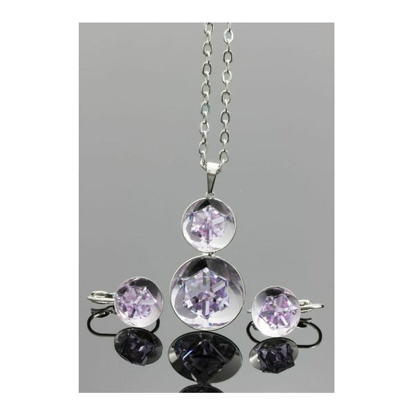 Set Swarovski Elements Inside Drops Violet