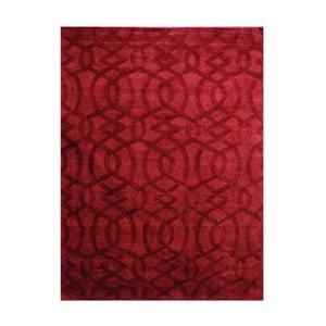 Ručně vyráběný koberec The Rug Republic Sparko Red, 190 x 290 cm