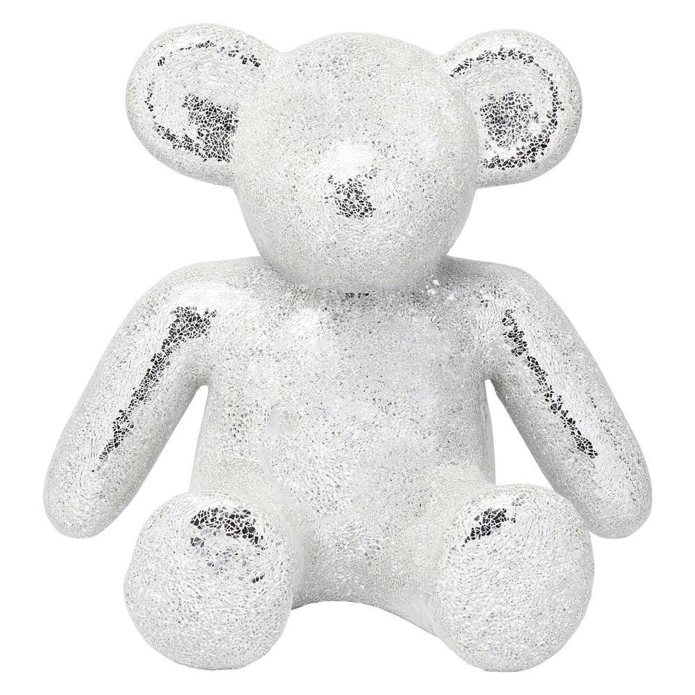 Dekorativní soška medvídka ve stříbrné barvě Kare Design Teddy Bear Kare Design
