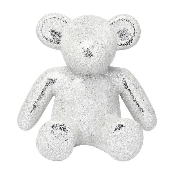 Dekorativní soška medvídka ve stříbrné barvě Kare Design Teddy Bear