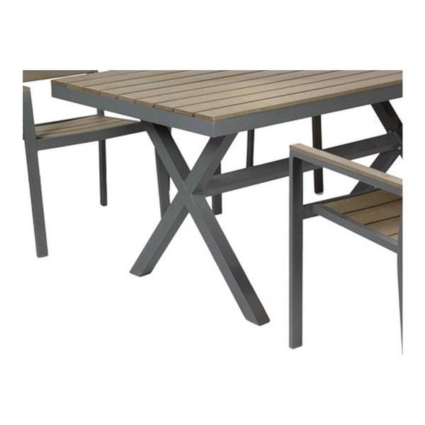 Zahradní stůl a 4 židle Lorca Grey