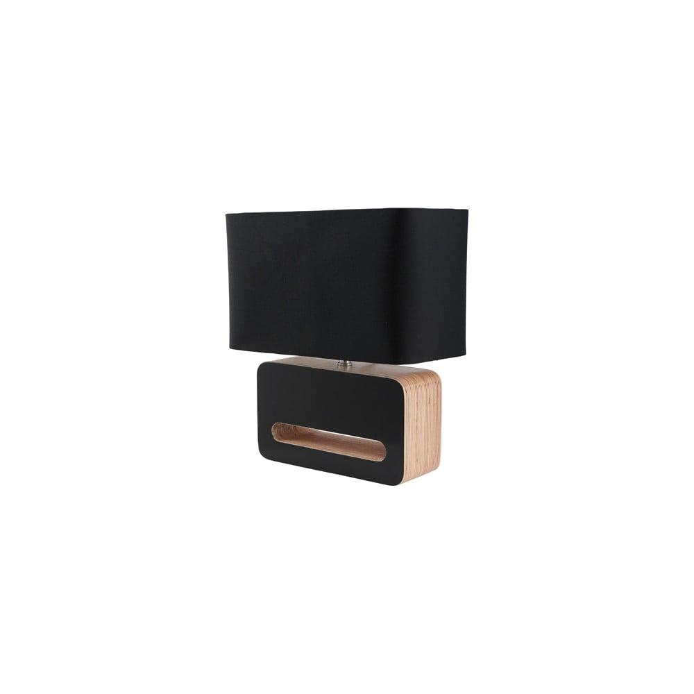 Černá stolní lampa Zuiver Wood