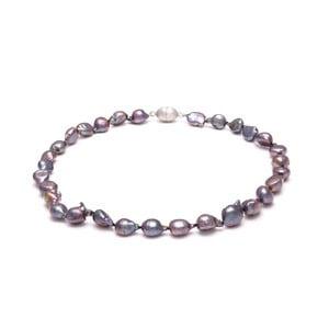 Fialový perlový náhrdelník GemSeller Cardamine
