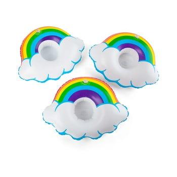 Set 3 suporturi gonflabile pentru pahare Big Mouth Inc. Rainbow