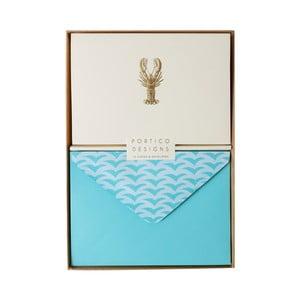 Set 10 felicitări cu plic  Portico Designs FOIL Lobster