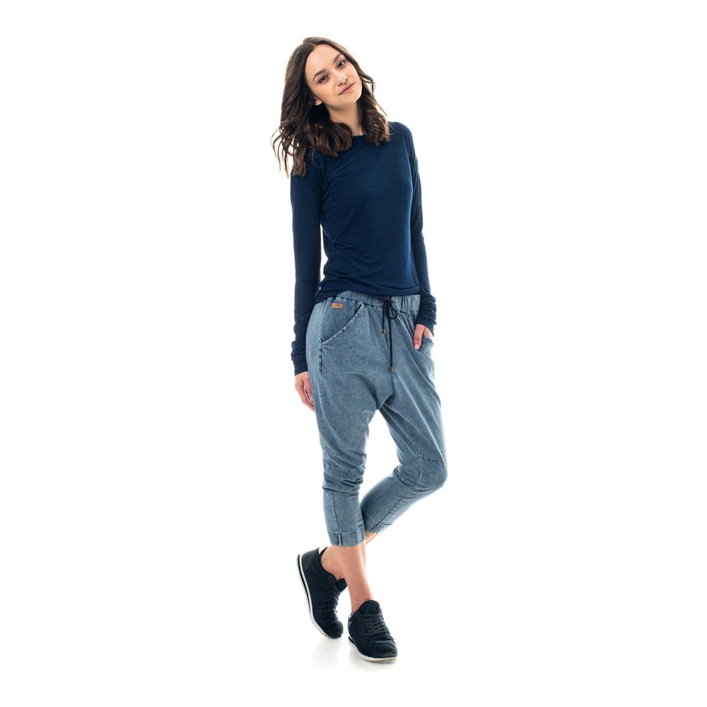 Bavlněné tepláky barvené indigem Lull Loungewear Jaden New Style ... ed7249a528