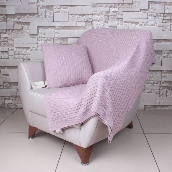 Růžová bavlněná deka Colma