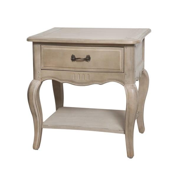 Béžový nočný stolík z brezového dreva Livin Hill Venezia