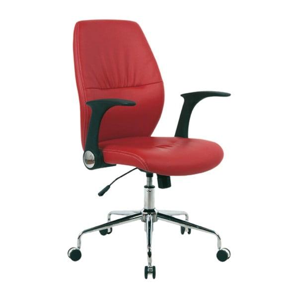 Pracovní židle na kolečkách Icaro, červená