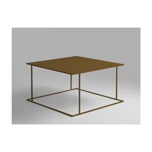 Konferenční stolek ve zlaté barvě Custom Form Walt, 80x80cm