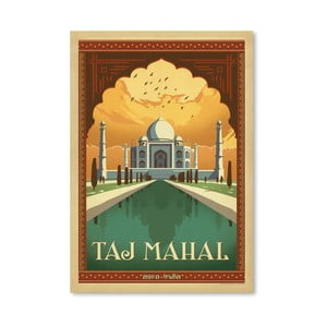 Plakát Americanflat Taj Mahal, 42 x 30 cm