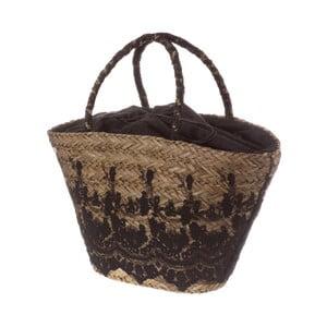 Černá dámská kabelka z přírodního vlákna Unimasa