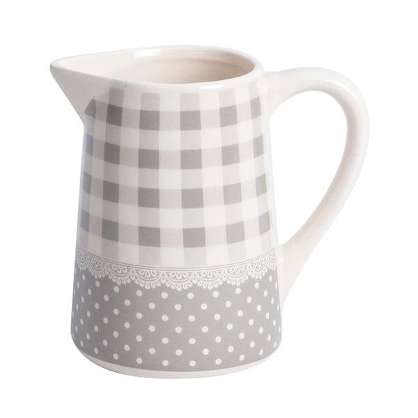 Džbánek Grey Dots&Checks, 12 cm